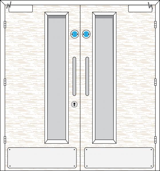Doorset 13-HO (Hold Open)