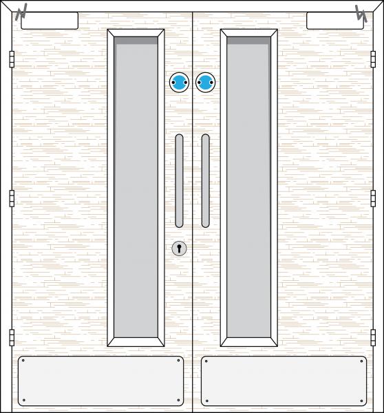 Doorset 15-HO (Hold Open)