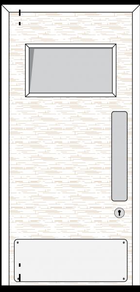Doorset 25-SV (Square Vision Panel)