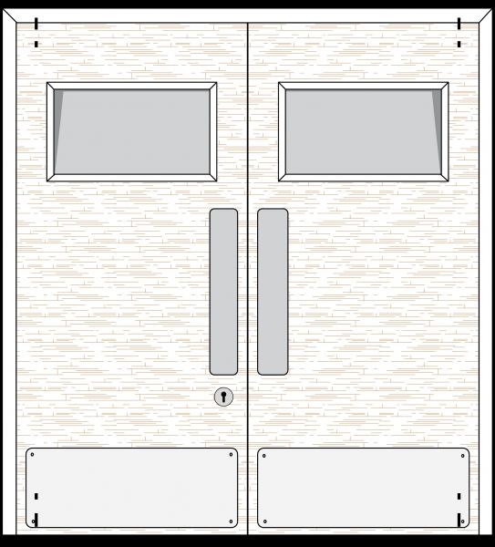 Doorset 26-SV (Square Vision Panel